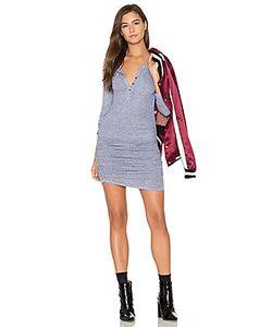 Lanston | Ruched Henley Dress