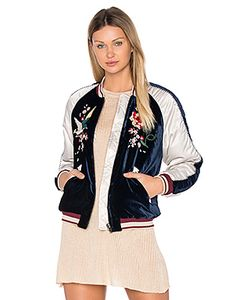 Free People | Embroidered Bomber