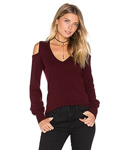 Autumn Cashmere | Cold Shoulder V Neck Sweater