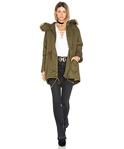 J.O.A. | Drawstring Jacket With Faux Fur Trim