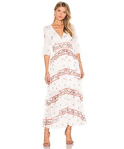 Endless Rose | V Neck Floral Maxi Dress