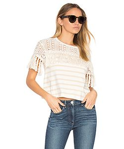 See By Chloe | Short Sleeve Fringe Top