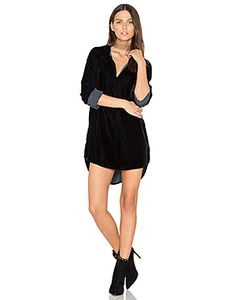 CP SHADES | Terry Velvet Shirt Dress