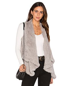 Arielle | Draped Rabbit Fur Vest