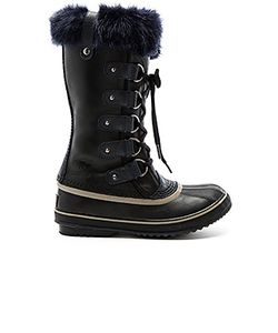 Sorel | Joan Of Arctic Obsidian Boot With Faux Fur