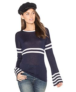 Autumn Cashmere | Bell Sleeve Stripe Sweater