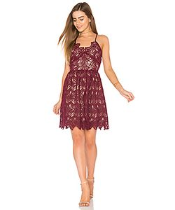 J.O.A. | Fit And Flare Lace Dress