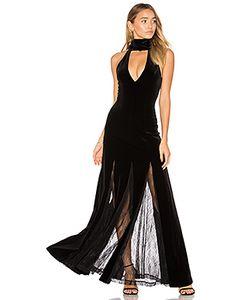Nicholas | Velvet Lace Insert Gown