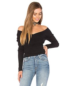 525 America | Rib Double V Criss Cross Sweater