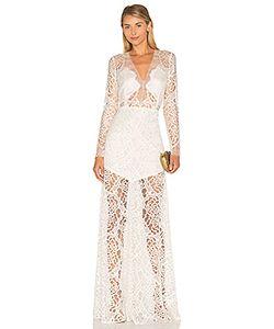 Michelle Mason | Кружевной Вечернее Платье С Длинным Рукавом