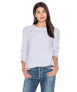 White + Warren | Weaved Crew Neck Sweater