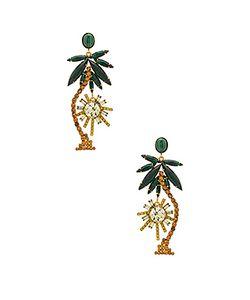 Elizabeth Cole | Palm Tree Earrings