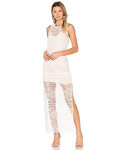 aijek | Blackjack Embroidered Column Maxi Dress