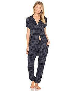 Bella Dahl | Margeaux Plaid Jogger Pj Set