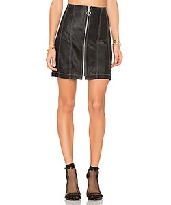 Frankie | Leather Stitched Skirt