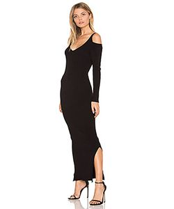 525 America | Rib Cold Shoulder Maxi Dress