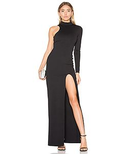 Donna Mizani | One Sleeve Mock Neck Maxi Dress