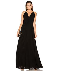 Elizabeth And James | Cadence Tie Neck Pleated Gown
