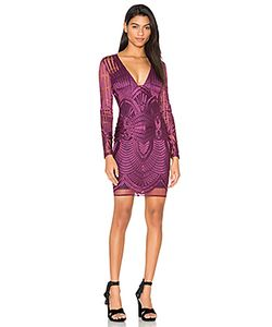Lavish Alice | Embroidered Mesh Plunge Dress