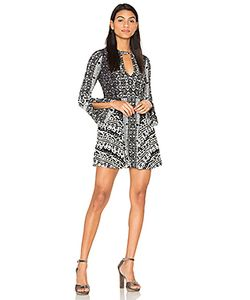 Free People | Tegan Boarder Printed Mini Dress