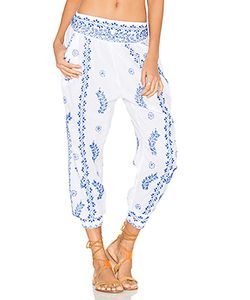 Juliet Dunn | Cotton Embroidered Trousers