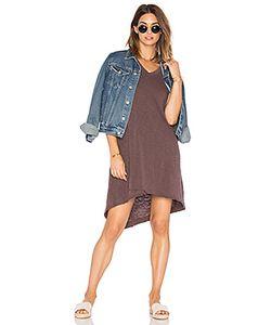 Wilt | Slub V Neck Mock Hem Dress