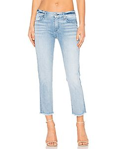 7 for all mankind | Distressed Unfinished Hem Ankle Straight