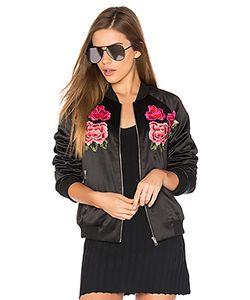 Endless Rose | Куртка-Бомбер С Цветочной Вышивкой