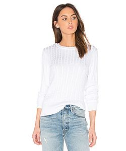 525 America | Chiffon Tie V Back Sweater