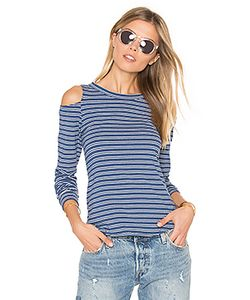 Lna | Ashley Jane Cold Shoulder Stripe Top