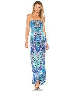 Camilla | Strapless Dress With Frill Hem