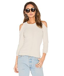 Autumn Cashmere | Pointelle Cold Shoulder Sweater