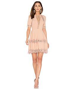 Nicholas | Crepe Lace Up Back Dress