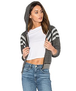 Wildfox Couture | Burnout Fleece Tri Stripe Hoodie