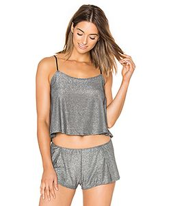 Only Hearts | Metallic Jersey Flare Cami