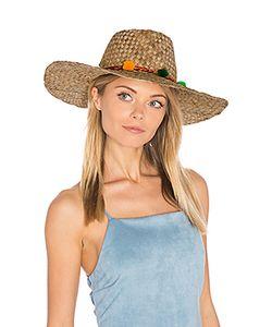 Pitusa | Pom Pom Farmers Wide Rim Hat