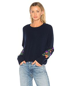 Autumn Cashmere | Embroidered Crop Sweater