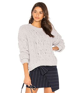 J.O.A. | Side Slit Cable Front Sweater J.O.A.