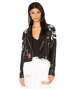 BLANKNYC | Embroide Faux Leather Jacket