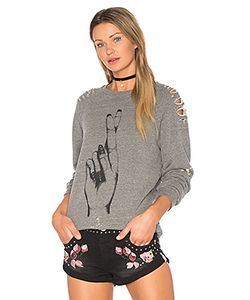 Lauren Moshi | Jetta Distressed Pullover