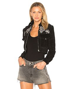 Understated Leather | Embroidered Suede Jacket