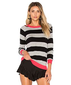 525 America | Cut Out Rugby Stripe Sweater