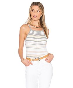 Autumn Cashmere | X Revolve Bib Stripe Crop Top