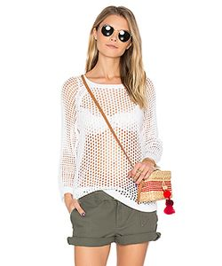LEO & SAGE | 3/4 Sleeve Open Knit Sweater