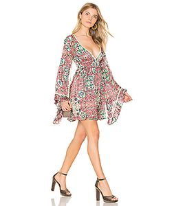 Raga | Sunset Rose Bell Sleeve Dress