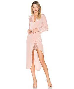 Michelle Mason | Платье С Запахом И Длинными Рукавами