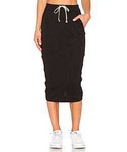 RICK OWENS DRKSHDW   Soft Short Pillar Skirt