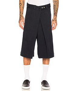 Willy Chavarria   Fold Over Flat Front Shorts