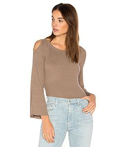 525 America | Cut Out Shoulder Sweater