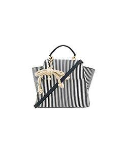 Zac Zac Posen | Eartha Iconic Convertible Striped Canvas Backpack